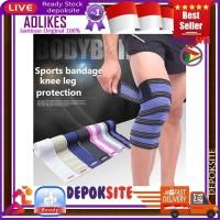 Aolikes Bandage 180 CM Elastis Support Leg Calf Knee pad Lutut