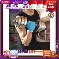AOLIKES 104 Sarung Tangan Fitness Gym Riding Gloves Wrist Wrap Sport - Abu-abu, S