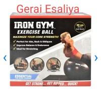 Bola Fitness 55 Cm Iron Gym 100%ORIGINAL - Hitam
