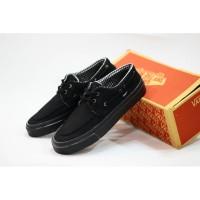 sepatu vans zapato full black sepatu pria sneakers original premium