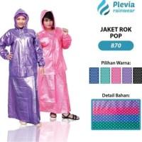 Jas Hujan Rok Polkadot Plevia ROK POP 870 Stelan Perempuan Jaket