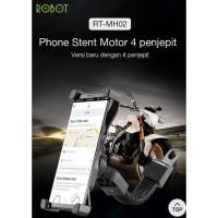Bracket Holder HP Spion Motor ROBOT RT-MH02 Jepit 4 Sisi GPS Handphone