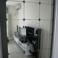 wall mirror tebal acrylic wall sticker wallpaper cermin akrilik