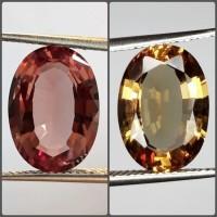 Batu Permata Zultanite Fenomena Change Colour 10x12mm