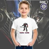 Kaos / Baju Anak TRANSFORMERS Studio Kaos bisa cetak nama
