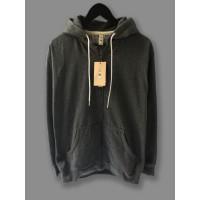 Jaket Hoodie Zipper Polos CAMOE PREMIUM & Original - Dark Grey Abu Tua
