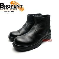 Sepatu Safety Boot Pria Resleting Kulit Asli 09