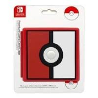 Nintendo Switch HORI Premium Game Card Case Pokeball Storage Micro SD
