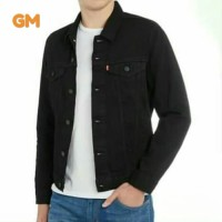jaket jeans jaket levis denim pria warna hitam