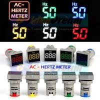 AC Hertz Meter Petak Panel Pilot Lamp LED 0-99 Hz 22mm 220v Frequency