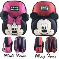 Tas Ransel Embos Anak Sekolah TK PAUD Miki Mini Mouse