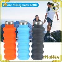 Botol Minum Lipat Spiral Silikon 500 MI - Foldable Silicone Tumbler
