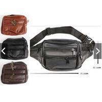 Tas kulit pinggang punggung import