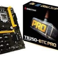 Tb250-Btc ProBiostar Motherboard Mining Lga 1151 Upto 12 Vga Card
