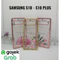 Case Samsung S10 - S10 Plus softcase casing hp cover bunga TPU FLOWER