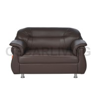 Sofa Xena 2 Seater Dark Brown - Sofa Tamu Oscar Import Quality