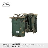 Tas Ransel Gulung Rolltop Laptop Backpack - ATVA Harrier Khaki Olive