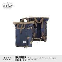 Tas Ransel Punggung Gulung Roll Top Laptop - ATVA Harrier Khaki Navy