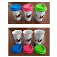Coffee Tumbler/Tumbler Keramik/Porcelain Tumbler/Tumbler Ayam Jago/