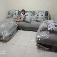 Sofa Sabrina abu-abu hitam