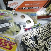 gear 1SET SSS + Rantai TK ORING CBR150 CBR 150 CB150 LED K45 FACELIFT