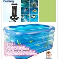 paket kolam spa bayi intime lengkap + pompa bestway 88