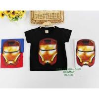 Kaos Iron Man Lampu Black