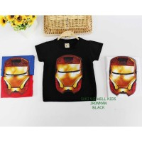 Kaos Iron Man Lampu Black teen