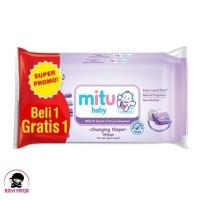 Tissue ganti popok bayi MITU isi 50 ( beli 1 gratis 1 ) - FREE ONGKIR