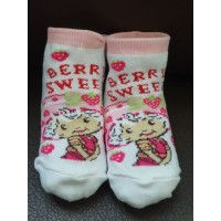 Kaos kaki anak strawberry short cake - SC001 ( 1 set isi 2 pasang )