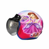 Helm Anak Perempuan Model Bogo Karakter Sofia The first