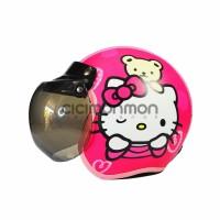 Helm Anak Gadis Model Bogo Karakter Hello Kitty