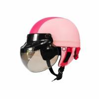 NEW Retro Helm Anak Kaca Model Bogo Warna Fanta Pink Untuk Anak Cewek