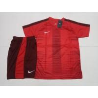 Baju Setelan Jersey Kaos Futsal Bola Nike NK138 Red
