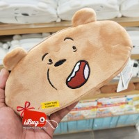 Miniso Cute We Bare Bears Grizzly Tempat Pensil Brown