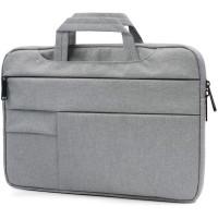 Tas Laptop 14 inch Macbook Softcase Pocket Hanstrap Waterproof - Grey