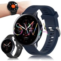 Samsung Galaxy Watch Active 2 40mm 44mm Strap Silikon Garmin Style