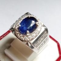 Cincin Pria Batu Blue Safir Asli