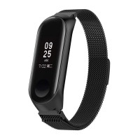 Tali Jam Milanese Stainless Steel Magnetic Strap Xiaomi Mi Band 3 -