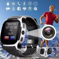 Jam Tangan Smartwatch T8 Kamera Support Sim Card Bluetooth Mp3 limi