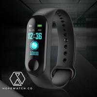 Mi Band 3 Looks M3 Heart Smartband OLED Smartwatch M3 - Hitam hight