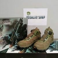 Sepatu Boots Tactical ESDY 6 putar (hijau)