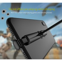 WSKEN Kabel Charger Gaming Micro USB 2A 1.2 Meter Downward Port