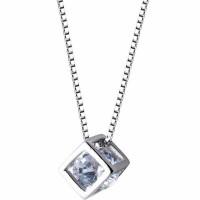 kalung alloy anti karat Cristal dengan liontin batu