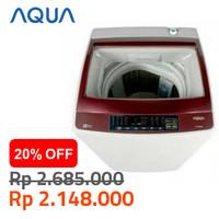 AQUA Mesin Cuci Otomatis 8 Kg AQW-88DD Top Loading AQW88DD Japan Sanyo