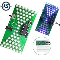 DIY Kits 5V Hourglass LED Lamp Electronic PCB Jam Gelas Pasir Animasi