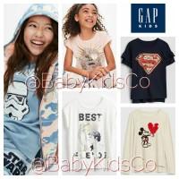 ORIGINAL Gap Kids x Disney Star Wars DC Flip Sequin Tee kaos gapkids