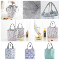 Lunch Bag Alumunium/ Cooler Bag/Tas Bekal Motif Tote Serut -