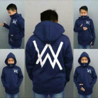 jaket sweater hoodie anak alan walker ninja merah hitam navi S M L