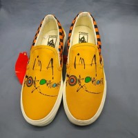 Sepatu Vans Slip On Ralph Steadment x Gonzovation Yellow Premium BNIB